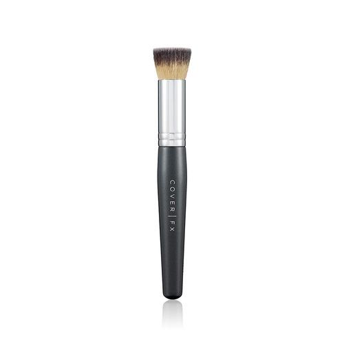 Closeup   liquid foundation brush