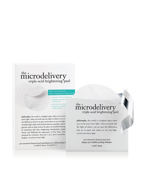 Closeup   the microdelivery triple acid brightening peel pre saturated chemical peel pads