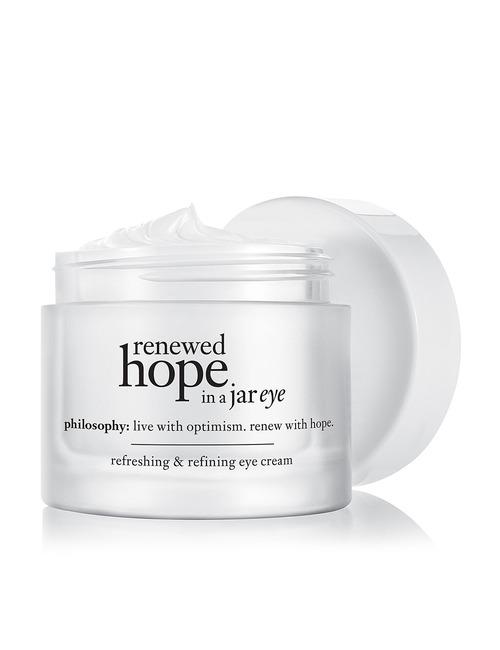 Closeup   renewed hope in a jar eye