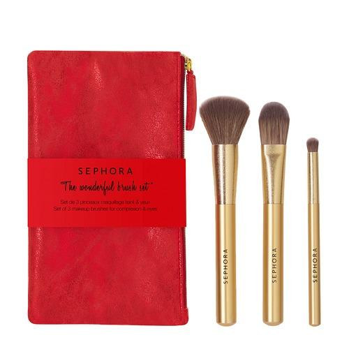 Closeup   wonderful brush set