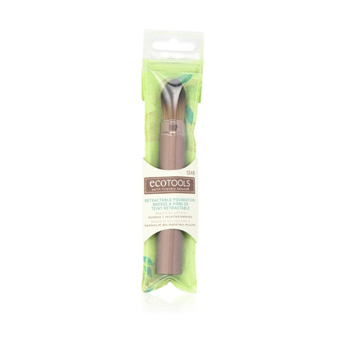 Closeup   eco tools retractable foundation brush